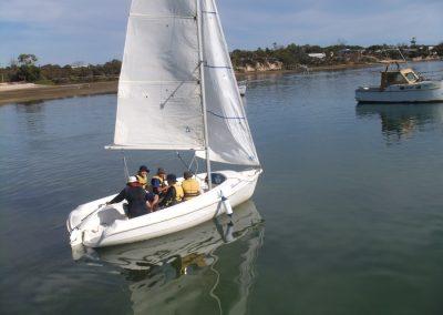 Aquatics camp - learning to sail