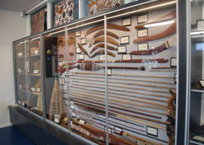 aboriginal artifacts on display
